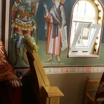 Εσπερινός του παρεκκλησίου του Ιερού Ναού μας που είναι αφιερωμένο στην Αγία Αναστασία την φαρμακολύτρια
